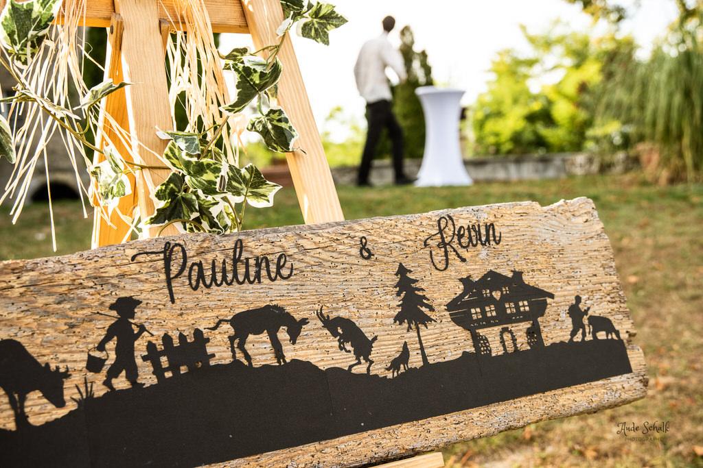 pancarte accueil de réception de mariage
