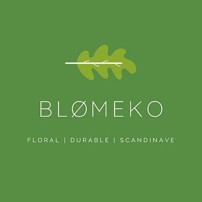 logo blomeko vert, atelier floral