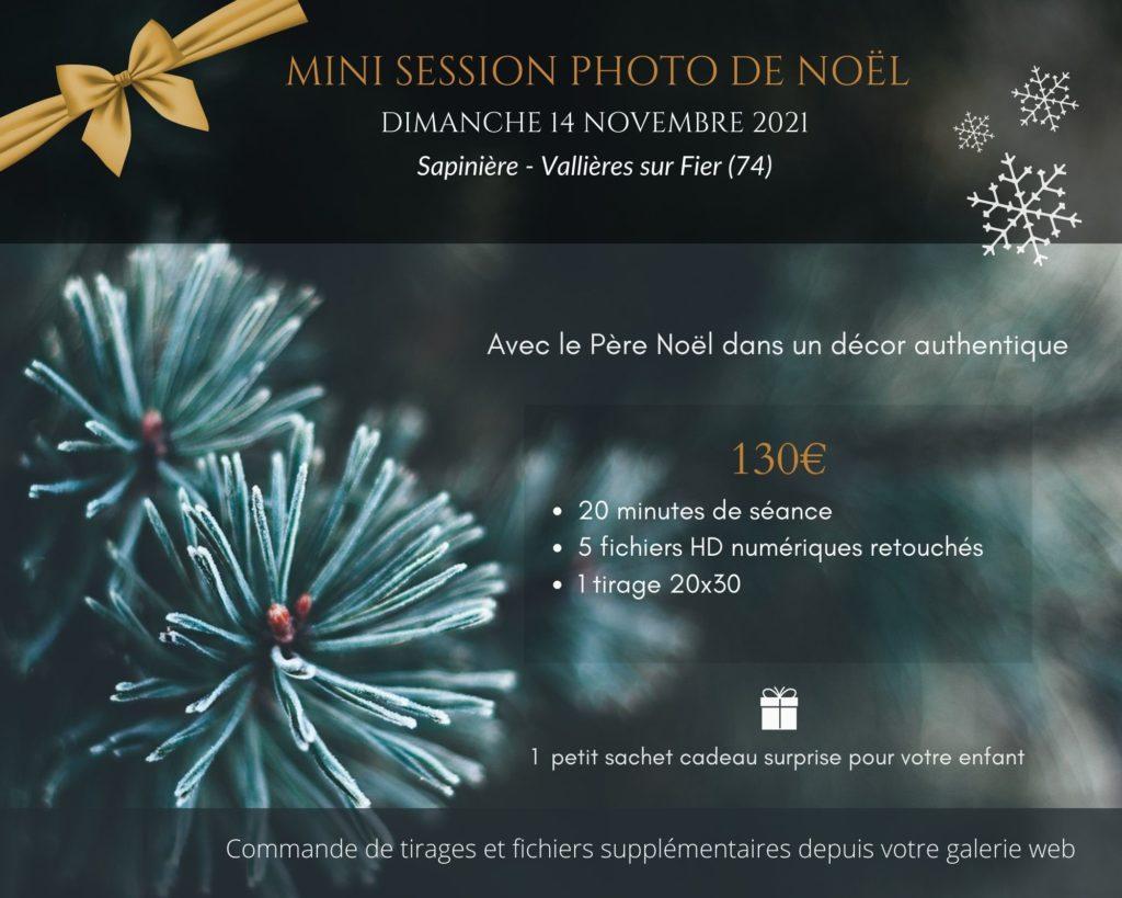 MINI SESSION PHOTO DE NOEL DIMANCHE 14 NOVEMBRE SAPINIERE DE VALLIÈRE-SUR-FIER (74)